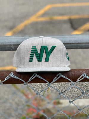 Heather Grey x Green NY Balance Snapback