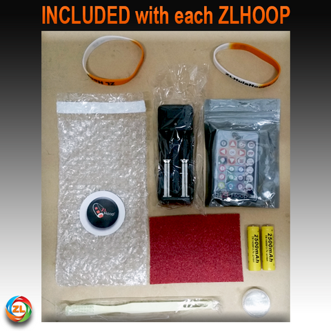Included with ZL Smart LED Hoops