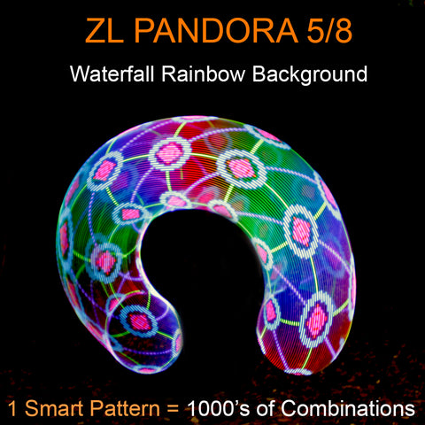 ZL Pandora Smart LED Hoops Waterfall Rainbow