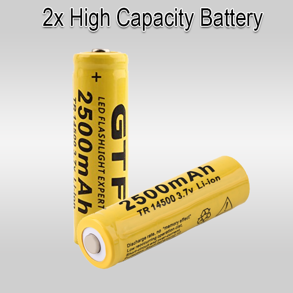 2 x  Lithium 3.7V Rechargeable Batteries