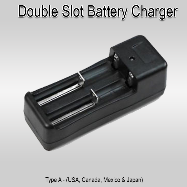 Extra Double Slot Battery Charger