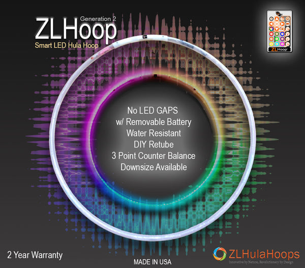 ZL Hoop Gen 2 - Smart LED Hula Hoops