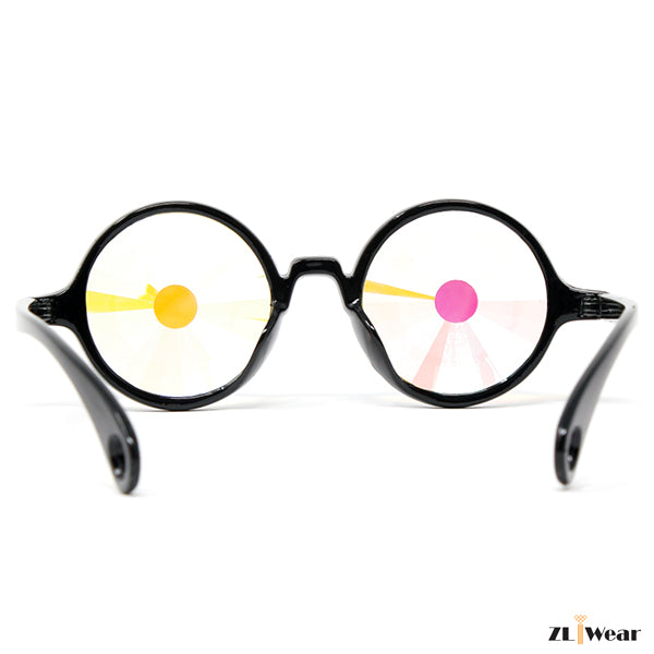 Kaleidoscope Glasses Black Rainbow Wormhole