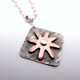 Copper Daisy Necklace
