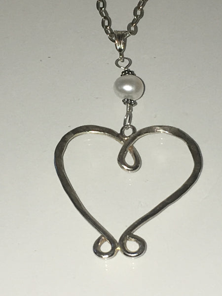 Pearl and Heart Necklace