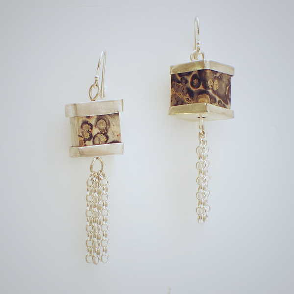 Jasper Lantern Earrings