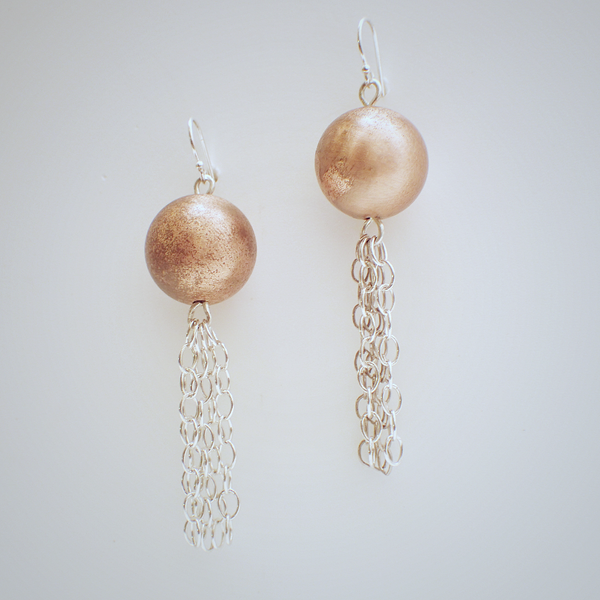 Copper Drop Earrings