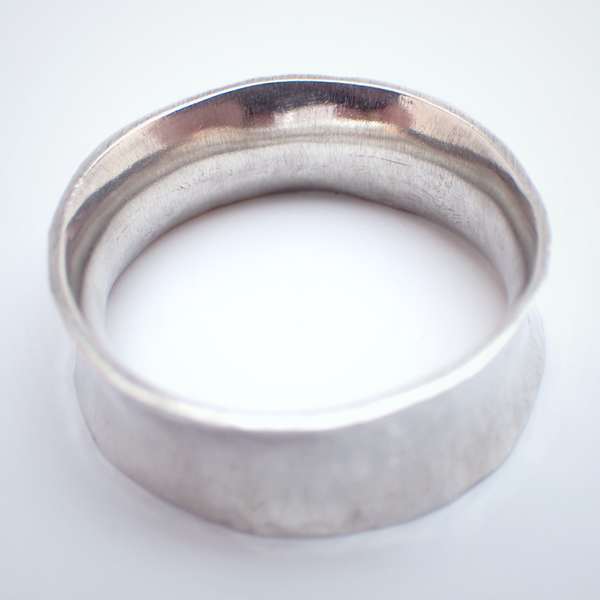 Hammered Concave Ring