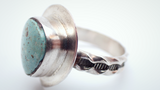 Turquoise Pattern Band Ring