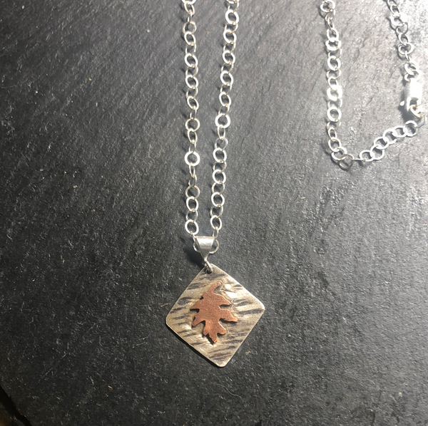 Copper Oak Leaf Necklace