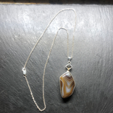 Brown Banded Agate Pendant