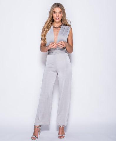 Gemma Halter Neck Wide Leg Jumpsuit