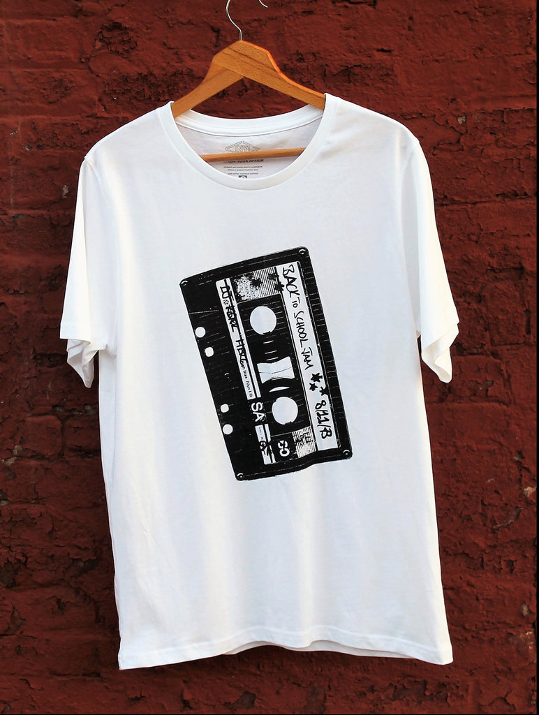 graphic Fairtrade, organic cotton t-shirt, celebrates the birth of Hip Hop