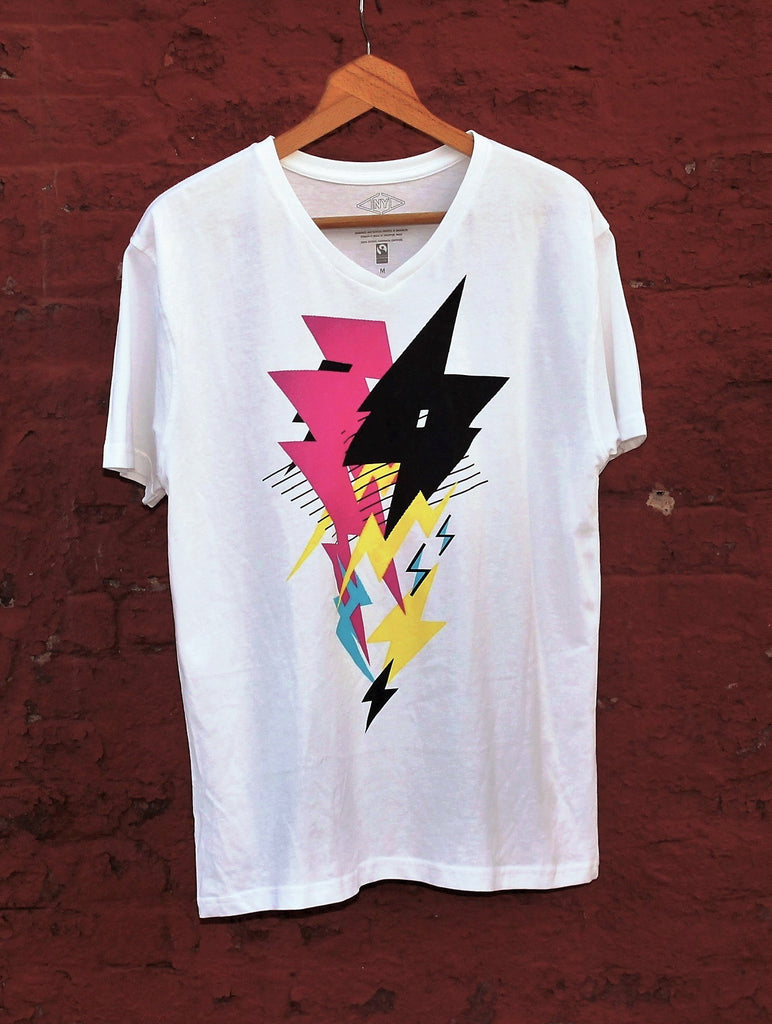 artist graphic t-shirt collab on ethically made Fairtrade, organic cotton