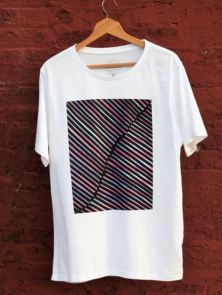 urban artist graphic t-shirt collab on ethically made Fairtrade, organic cotton