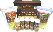 Load image into Gallery viewer, Mission Fertilizer Six Plant Starter Kit - Enough Organic nutrients to grow 6 medicinal plants in up to 5 gallon containers from start to finish.