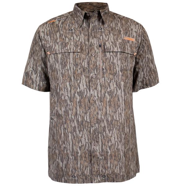 Habit® Men's Hatcher Pass Short Sleeve Camo Guide Shirt - Mossy Oak