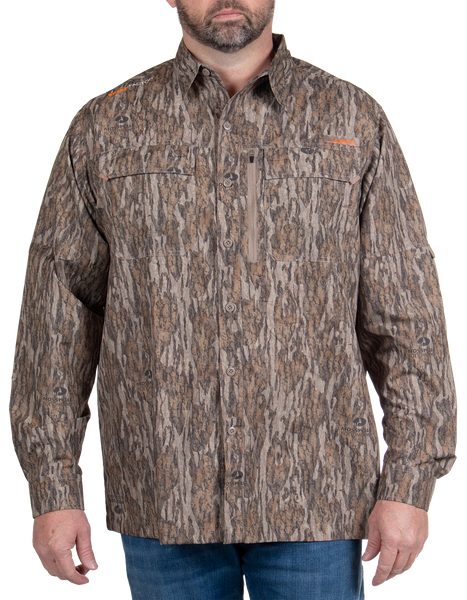 Men's Hatcher Pass Long Sleeve Camo Guide Shirt - Mossy Oak