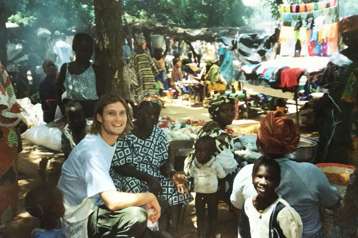 Dan, circa 2003, at a market in Mali.