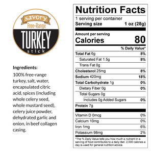Taffy Savory - Turkey, Free-Range Bites, 4-oz Packages (5 Count)
