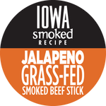 Jalapeno - Iowa Smoked Recipe, 100% Grass-Fed Beef Sticks (12 - 144 Counts)