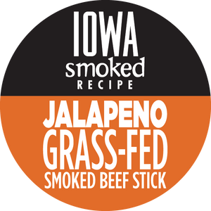 Jalapeño - Iowa Smoked Recipe, 100% Grass-Fed Beef Sticks, 12 - Count