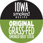 Original, Iowa Smoked Recipe, 100% Grass-Fed Beef Sticks