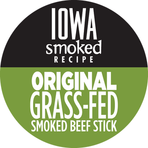 Original - Iowa Smoked Recipe, 100% Grass-Fed Beef Sticks (12 - 144 Counts)