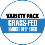 Variety, Jalapeno Flavors, No Sugar, 100% Grass-Fed Beef Sticks (12 - 144 Counts)