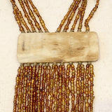 Kenyan Statement Necklace Bronze Tassel