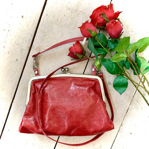 Owen Barry Crossbody Bag Red Glacie Leather Sample