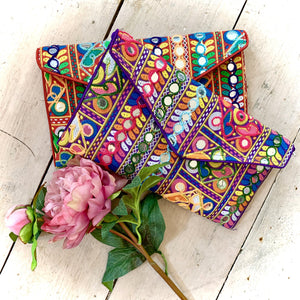 Bohemian Mirrored & Embroidered Envelope Bag