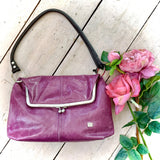 Owen Barry Heliotrope Leather Handbag Sample Second
