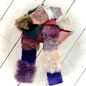 Owen Barry Patchwork Sheepskin Scarf