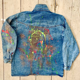 Paint Splash Reworked Retro Denim Jacket