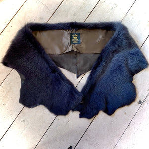 Owen Barry Sheepskin Stole/Wrap Black
