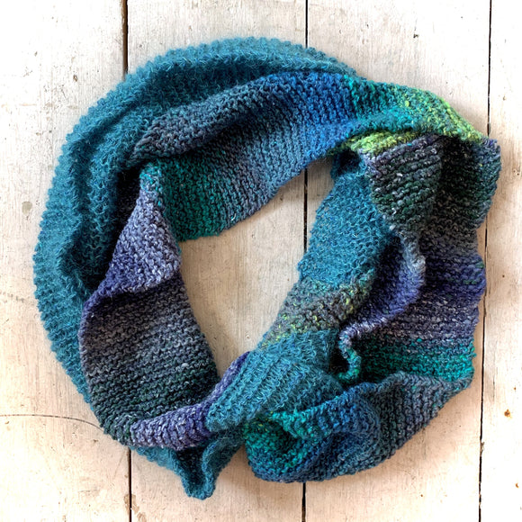 Mega Length Hand Knit Tubular Scarf