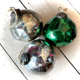 Glass Christmas Bauble Large Faceted