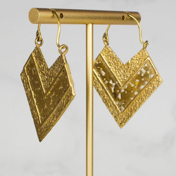 My Doris Triangular Drop Earrings