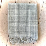Moons of Yorkshire Pure Wool Blanket Slight Second Silver & White