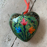 Hand Painted Christmas Bauble Heart