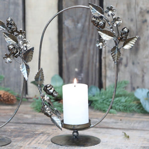 Floral Candle Holder Wreath