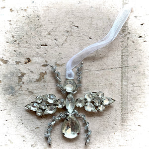 Clear Jewelled Insect Christmas Decoration