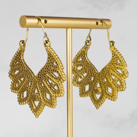My Doris Lotus Drop Earrings
