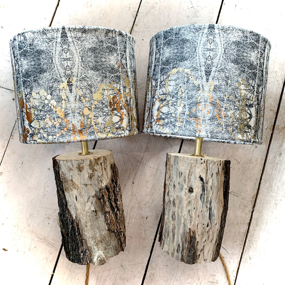 Into The Woods Collection Table Lap Pair Driftwood Bases
