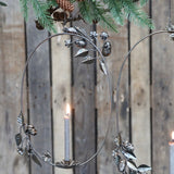 Floral Hanging Candle Holder Wreath