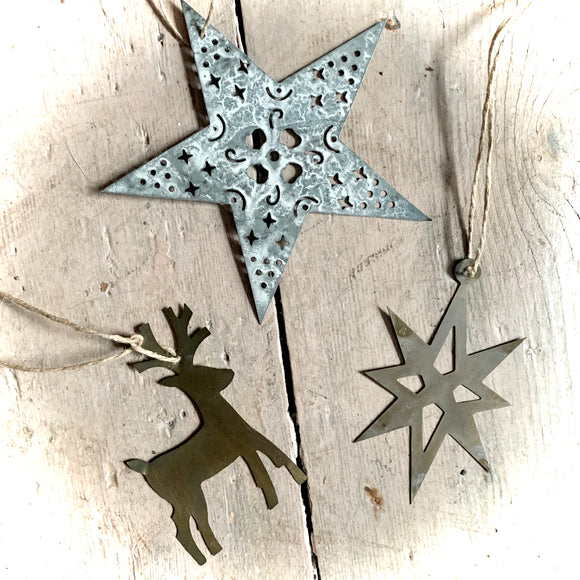 Metal Rustic Christmas Decorations