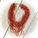Kenyan Necklace Multi Strand Red