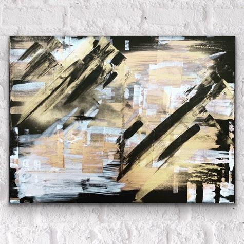Gold Rush- Original Mixed Media Artwork on Canvas