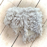 Owen Barry Sheepskin Collar Pale Grey
